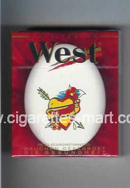 West (collection design 10A) (Full Flavor) ( hard box cigarettes )