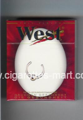 West (collection design 10B) (Full Flavor) ( hard box cigarettes )