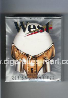 West (collection design 10E) (Lights) ( hard box cigarettes )