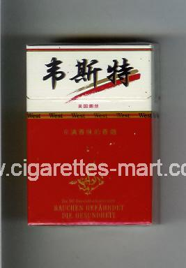 West (collection design 12B) (T) ( hard box cigarettes )