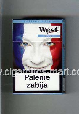 West (collection design 13A) (Edition 2006 / Blue) ( hard box cigarettes )