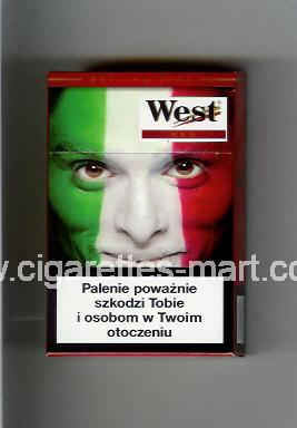 West (collection design 13C) (Edition 2006 / Red) ( hard box cigarettes )