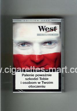 West (collection design 13D) (Edition 2006 / Silver) ( hard box cigarettes )