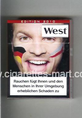 West (collection design 13D) (Edition 2010 / Red) ( hard box cigarettes )