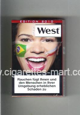 West (collection design 13E) (Edition 2010 / Red) ( hard box cigarettes )