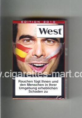 West (collection design 13F) (Edition 2010 / Red) ( hard box cigarettes )