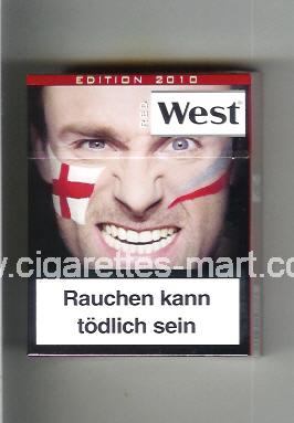 West (collection design 13G) (Edition 2010 / Red) ( hard box cigarettes )