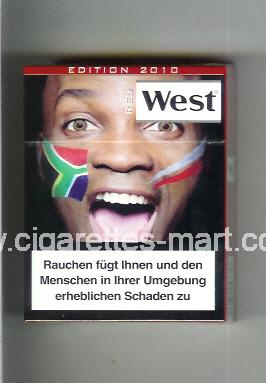 West (collection design 13H) (Edition 2010 / Red) ( hard box cigarettes )