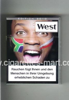 West (collection design 13H) (Edition 2010 / Silver) ( hard box cigarettes )
