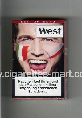 West (collection design 13I) (Edition 2010 / Red) ( hard box cigarettes )