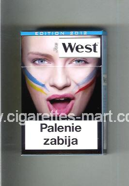 West (collection design 13J) (Edition 2012 / Ice) ( hard box cigarettes )