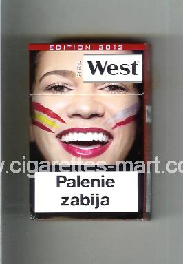 West (collection design 13K) (Edition 2012 / Red) ( hard box cigarettes )