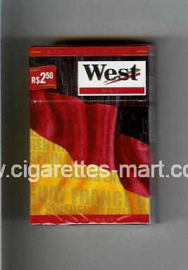 West (collection design 14A) (World Edition 2006 / Red) ( hard box cigarettes )