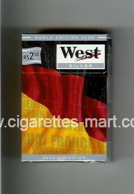 West (collection design 14A) (World Edition 2006 / Silver) ( hard box cigarettes )