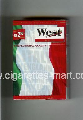 West (collection design 14B) (World Edition 2006 / Red) ( hard box cigarettes )
