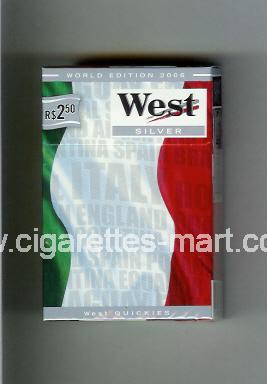 West (collection design 14B) (World Edition 2006 / Silver) ( hard box cigarettes )