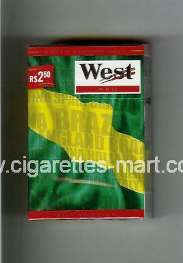 West (collection design 14C) (World Edition 2006 / Red) ( hard box cigarettes )
