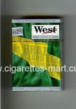 West (collection design 14C) (World Edition 2006 / Silver) ( hard box cigarettes )