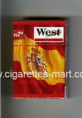 West (collection design 14D) (World Edition 2006 / Red) ( hard box cigarettes )