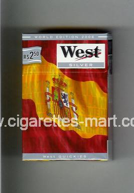 West (collection design 14D) (World Edition 2006 / Silver) ( hard box cigarettes )