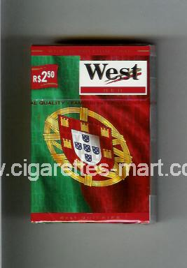 West (collection design 14E) (World Edition 2006 / Red) ( hard box cigarettes )