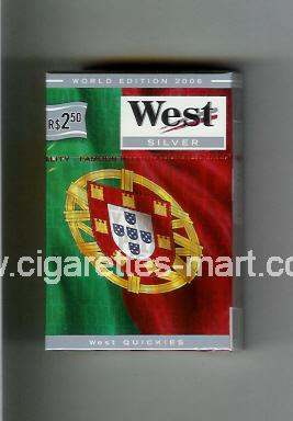 West (collection design 14E) (World Edition 2006 / Silver) ( hard box cigarettes )