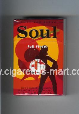 West (collection design 16C-1) Soul (Full Flavor) ( hard box cigarettes )