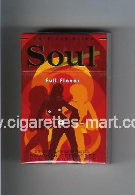 West (collection design 16C-3) Soul (Full Flavor) ( hard box cigarettes )