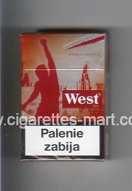 West (collection design 18B) (Red / Express Yourself) ( hard box cigarettes )