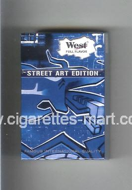 West (collection design 19A) Street Art Edition (Full Flavor) ( hard box cigarettes )