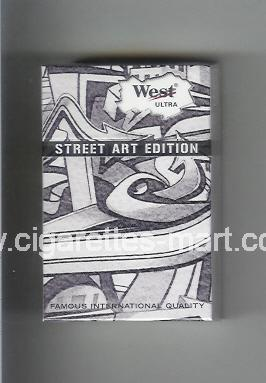 West (collection design 19C) Street Art Edition (Ultra Lights) ( hard box cigarettes )