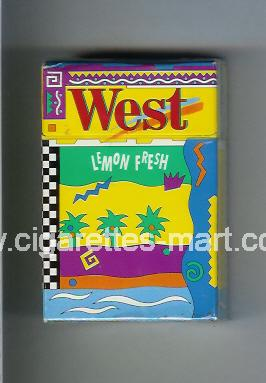 West (collection design 2) (Lemon Fresh) ( hard box cigarettes )