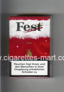 West (collection design 21A) Fest (Frones / Red) ( hard box cigarettes )