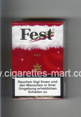 West (collection design 21B) Fest (Frones / Red) ( hard box cigarettes )