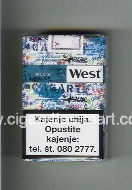 West (collection design 22A) (Blue) ( soft box cigarettes )