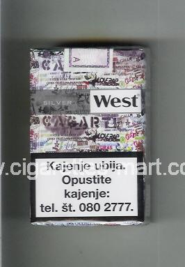 West (collection design 22A) (Silver) ( soft box cigarettes )