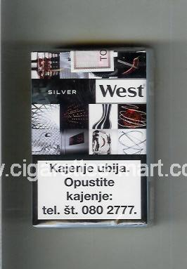 West (collection design 22B) (Silver) ( soft box cigarettes )