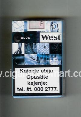 West (collection design 22C) (Blue) ( soft box cigarettes )