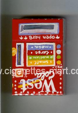 West (collection design 3) (Cola) ( hard box cigarettes )