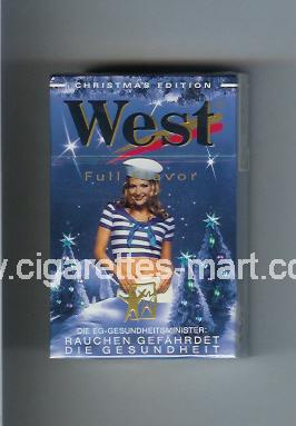 West (collection design 4E) (Christman Edition / Full Flavor) ( hard box cigarettes )