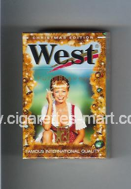 West (collection design 4F) (Christman Edition / Full Flavor) ( hard box cigarettes )