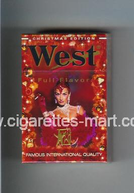West (collection design 4H) (Christman Edition / Full Flavor) ( hard box cigarettes )