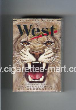 West (collection design 5E) (American Blend) ( hard box cigarettes )