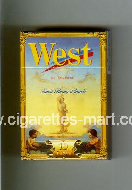West (collection design 7) (Birthday Blend / Finest Flying Angels) ( hard box cigarettes )