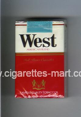 West (design 1) (American Blend) (Full Flavor) ( soft box cigarettes )