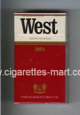 West (design 1) (American Blend) ( hard box cigarettes )