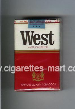 West (design 1) (American Blend) ( soft box cigarettes )