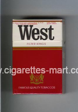 West (design 1) (Filter) ( hard box cigarettes )