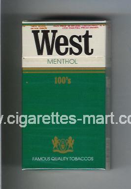 West (design 1) (Menthol) ( hard box cigarettes )