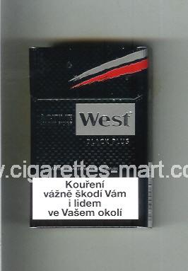 West (design 10) (Active Carbon Filter / Black Plus) ( hard box cigarettes )